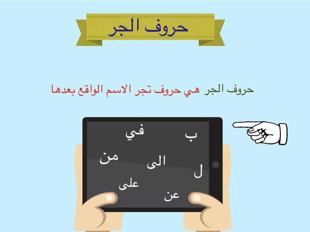 حروف الجر  by مها العتيبي