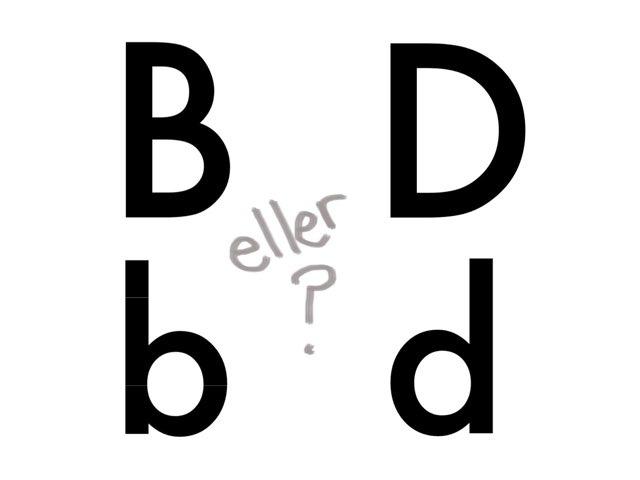 b eller d? - www.MinKusineMaria.dk by Min Kusine Maria