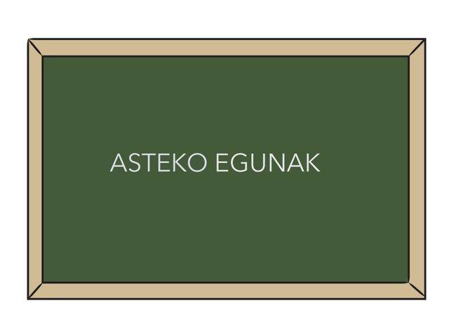 ASTEKO EGUNAK by Aiora Atutxa