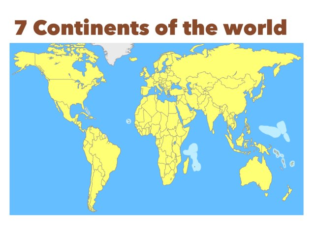 7 Continents & Flags Of The Countries by Poe Dee
