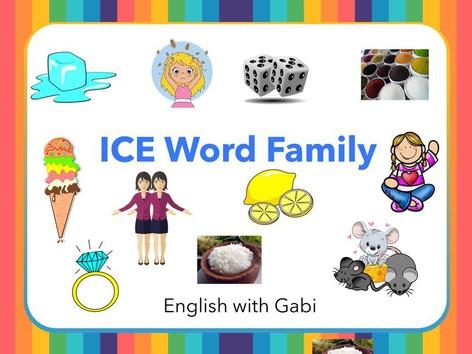 Lesson 26: ICE Word Family by English with Gabi אנגלית עם גבי