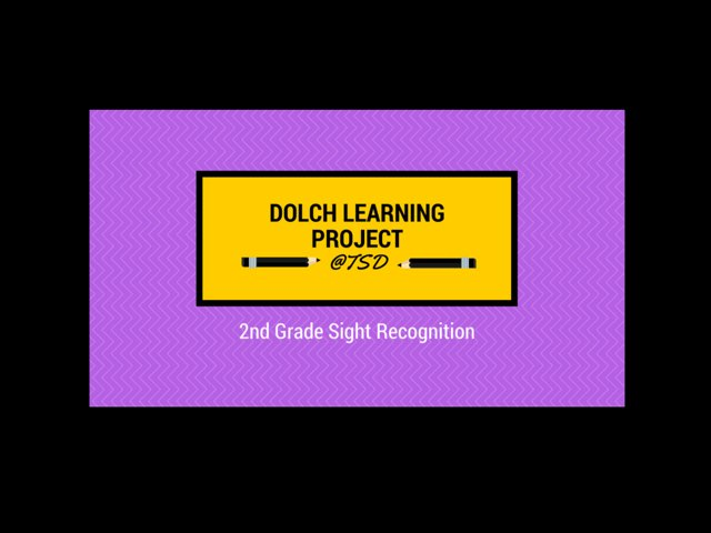 Vocabulary Introduction 3: Dolch 2nd Grade by TSD Library