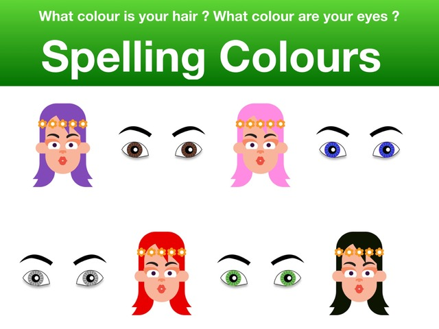 What colour ? Listen and spell by Teeny Tiny TEFL