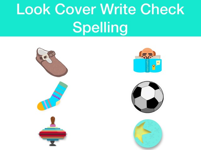 Look Cover Write Check - possessions & clothes by Teeny Tiny TEFL