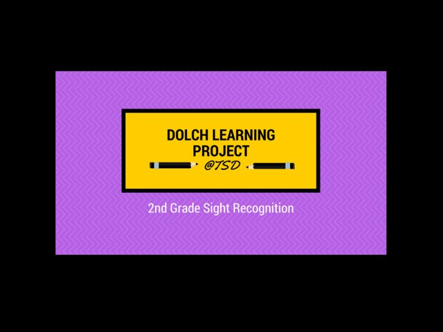Vocabulary Introduction 1: Dolch 2nd Grade by TSD Library