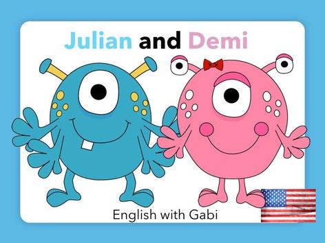 Julian & Demi- Reading Simple Stories by English with Gabi אנגלית עם גבי