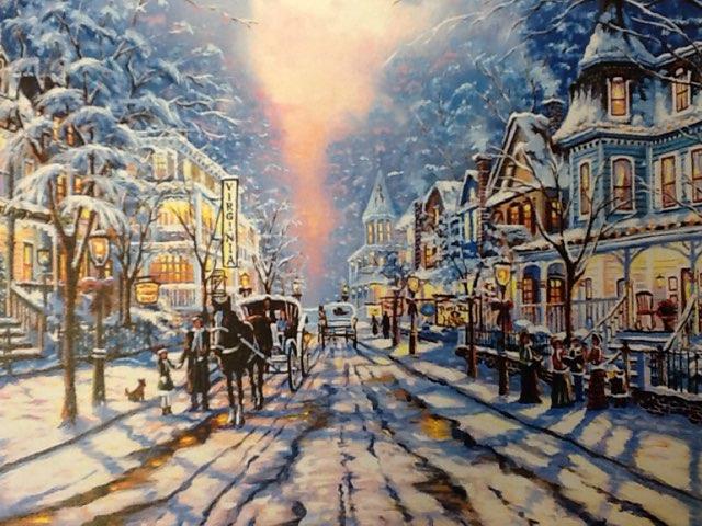 Snowy Street by Vicki Hamer