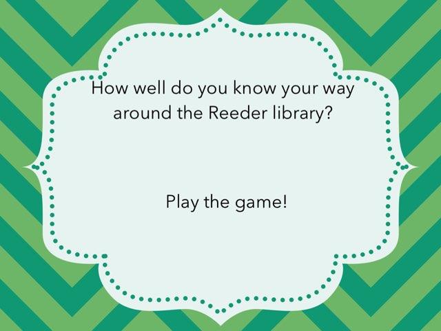 Library Quiz by Kathy Kozak