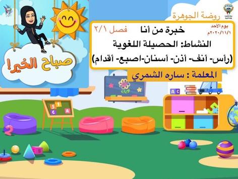 الحصيلة اللغوية لخبرة من انا by sara Al-salman