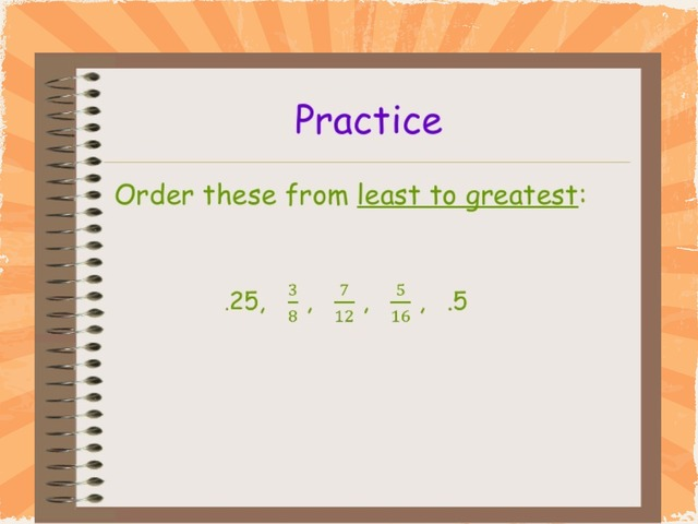 Order rational numbers #18 by Tracie Chandler