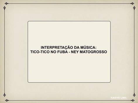 INTERPRETAÇÃO DA MUSICA.  by Nucleo Aprendizagem