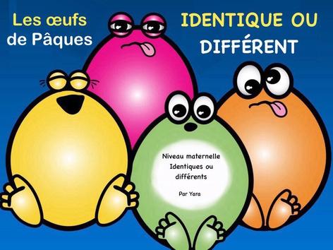 Les œufs de Pâques - Identique et différent by Yara Habanbou
