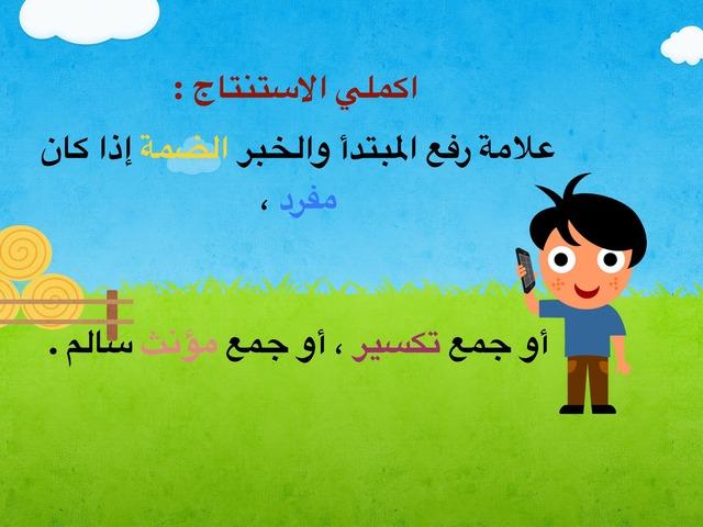 الوظيفة النحوية رفع المبتدأ والخبر بالعلامات الفرعية by Salma Alsaeedi
