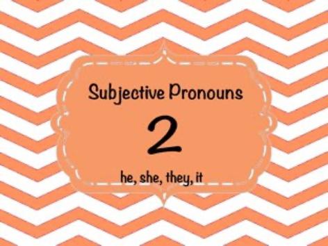 Subjective Pronouns by Ellen Weber