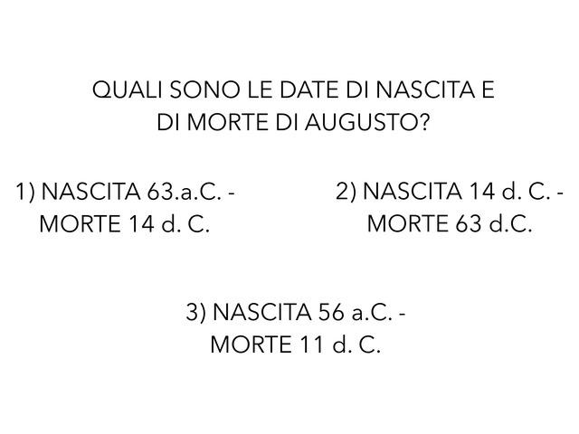 Verifica Augusto by Valeria Lombardi