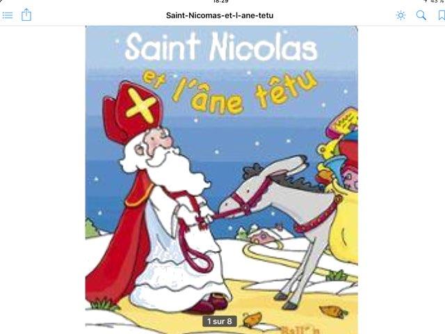 Saint Nicolas Et L'âne Têtu by Stéphanie Henrotte