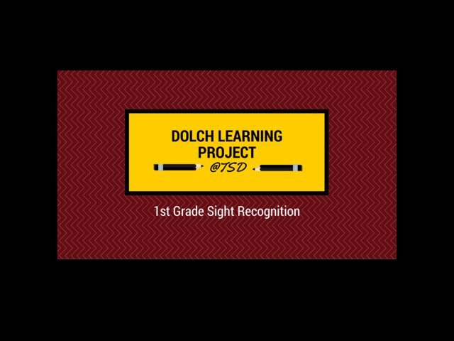 Sign ID 2: Dolch 1st Grade by TSD Library
