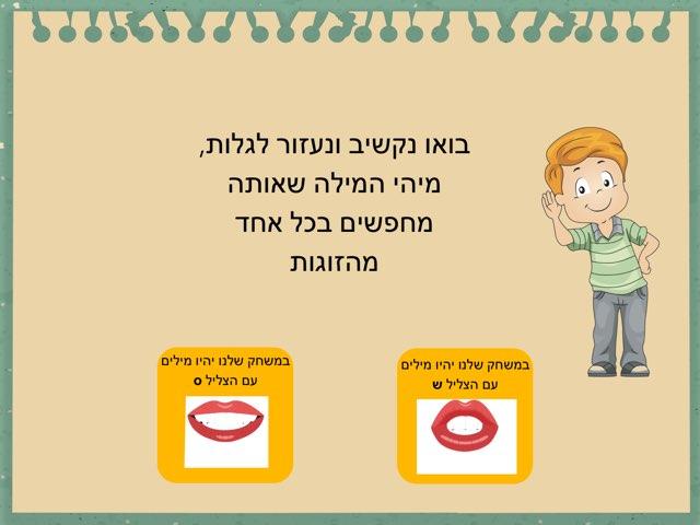 הבחנה שמיעתית s-sh by Ayelet Levy Kaminsky