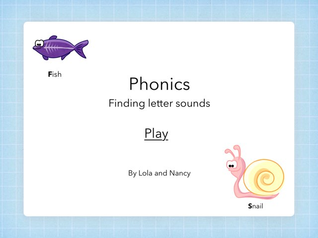 Phonic Game by Mrs Rawlinson
