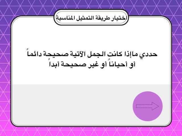اختيار طريقة التمثيل المناسبة M7 by areej fahad