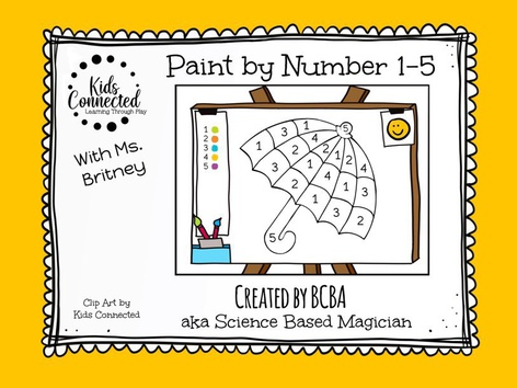 Paint By Number 1-5 Umbrella by Kids  Connected