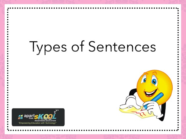 Types Of Sentences by TinyTap creator