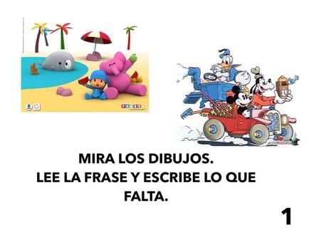 Mira,lee y escribe 1 by Francisca Sánchez Martínez