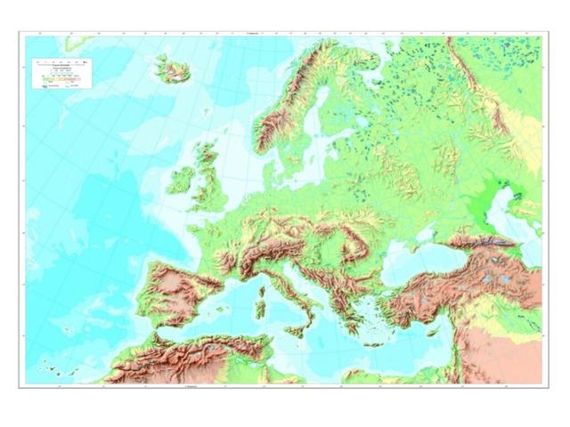 El Relieve De Europa by Adriana Ruiz Moreno