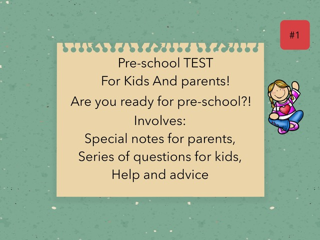 Pre-school Test! by Girly Seal0