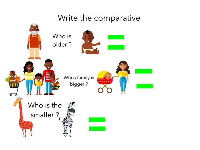 Comparative  by Lavinia Avila