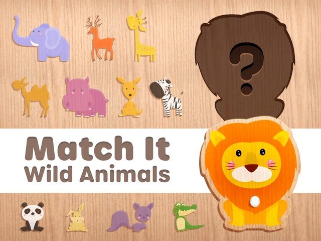 Match It. Wild Animals by Tiny Tap