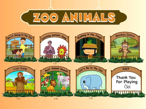 Zoo Song Chart by Cici Lampe