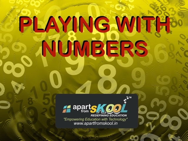 Playing With Numbers by TinyTap creator