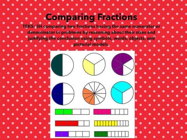 Comparing Fractions DPISD by Theresa Staley