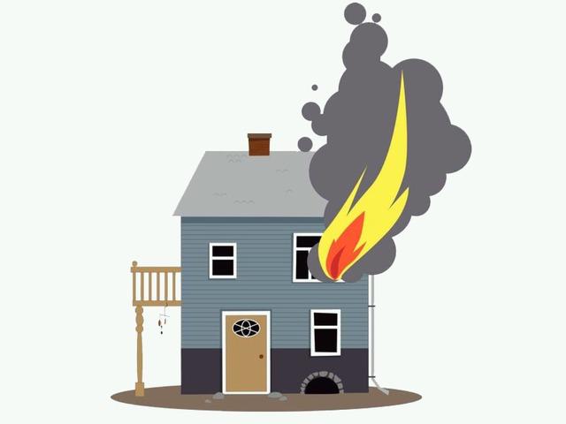 منزل محترق by منيره