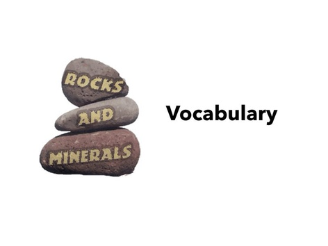 Rocks and Minerals Vocabulary  by Kathy Gordon