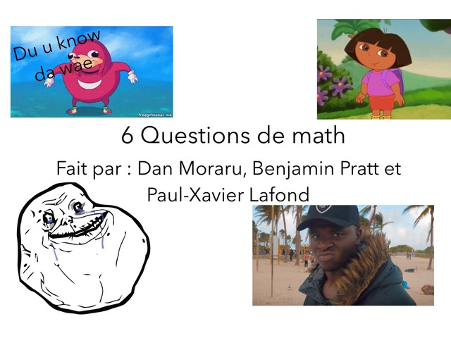 Révision De Math by Dan Moraru