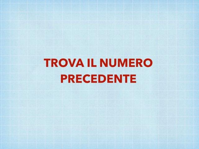 Numero Precedente by Valentina Buoso