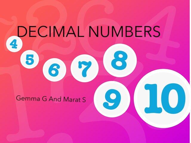 Decimal Numbers by Diego Campos