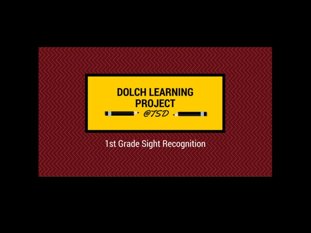 Word ID 2: Dolch First Grade by TSD Library