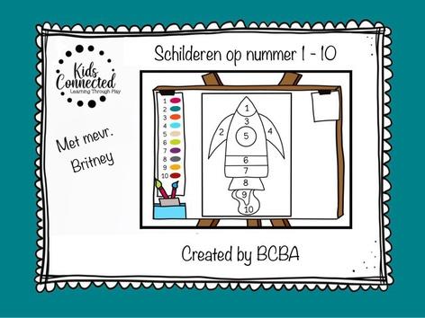 Schilderen Op Nummer 1 - 10 Raket by Kids  Connected