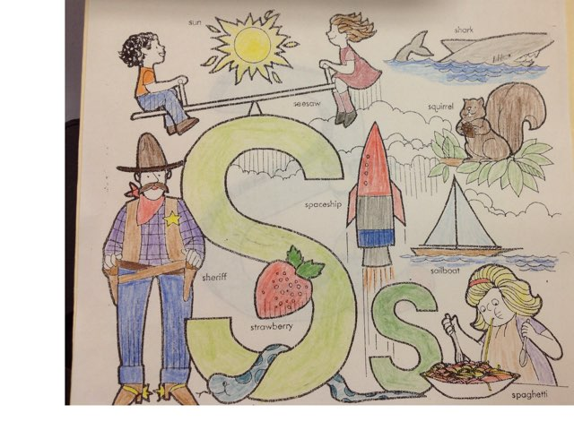Letter S by Christine Snow