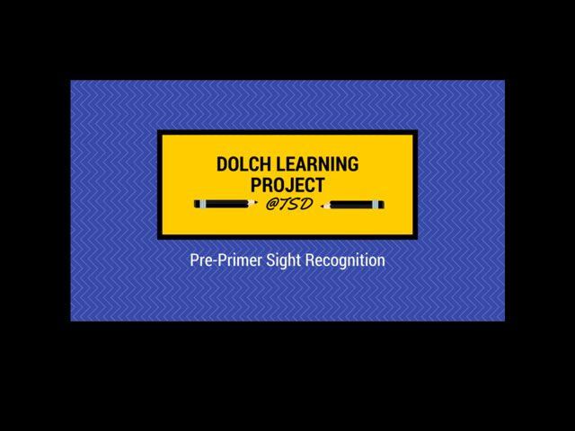 Vocabulary Introduction 2: Dolch Pre-Primer by TSD Library