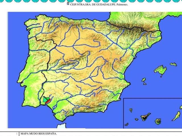 Mapa De España Ríos by Carla García