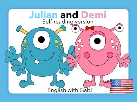 Julian and Demi- Self-Reading Version by English with Gabi אנגלית עם גבי