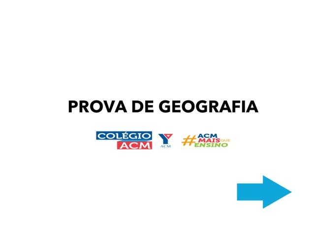 Prova de Geografia 2 Ano ACM  by Daianne Martins