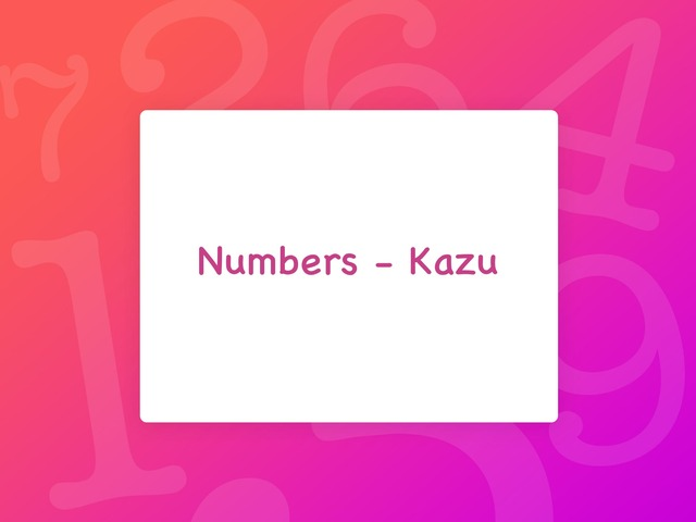 Numbers by Kim Bullen
