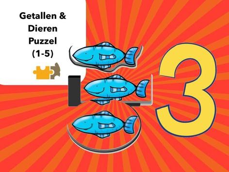 Dieren & Getallen 1-5 by Mr. Puzzlez