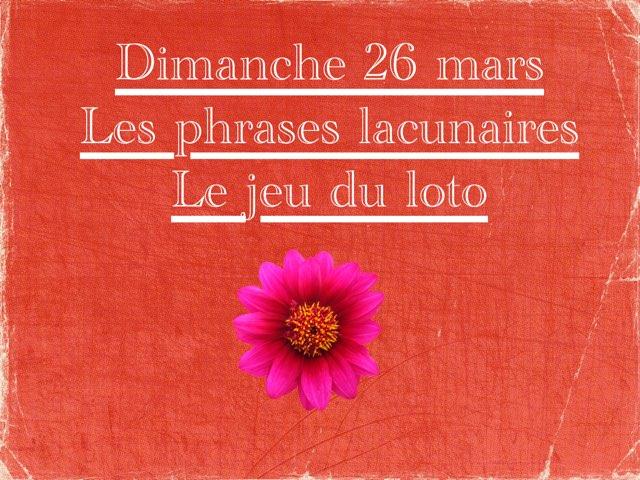 N - Dim26 - Phrases Et Jeu Du Loto by Caroline Gozdek