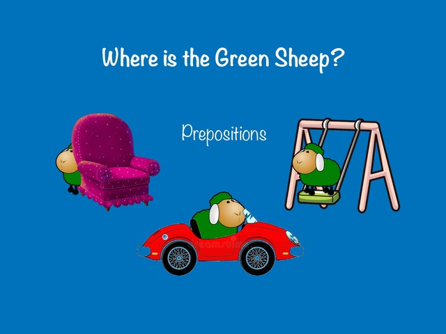 Where Is The Green Sheep Prepositions by Jo Sutton